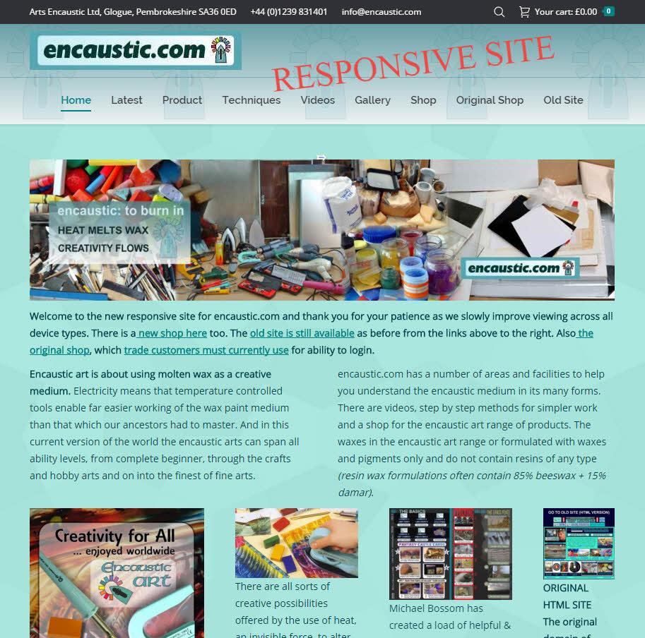 encaustic-com responsive site